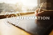 Automation Concept As An Innovation, Improving Productivity, Reliability In Technology And Business  poster