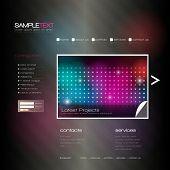 EPS10 Vector Website Design Template