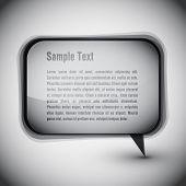 EPS10 Grey Speech Bubble Vector Background
