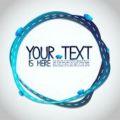 Abstract Illustration - Blue Roads Around Your Text - EPS10 Vector Design