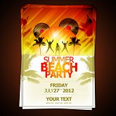 image of summer beach  - Summer Beach Party Flyer  - JPG