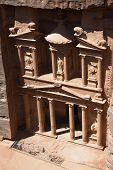 The so-called 'treasury' at Petra, Jordan, which is actually part of a vast Nabataean necropolis.