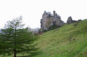 Historic Neidpath Castle, Peebles, Scotland. Detailed history at http://www.maybole.org/history/cast