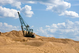 stock photo of open-pit mine  - Sandpit - JPG