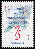 Postage stamp Netherlands 1987 Union of the Netherlands Municipa