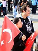 Couple with Turkish Flag