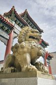 Chinese Female Foo Dog Guardian At Chinatown Gate