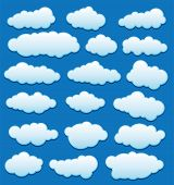 Vector Set Of Clouds In The Sky