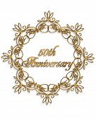 picture of 50th  - 50th Anniversary design element for card or invitation - JPG