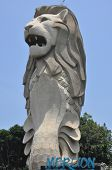 Merlion Statue on Sentosa Island in Singapore