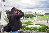 Tourist Making Photo In Arkhangelskoe Estate