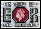 Postage Stampsilver Jubilee Queen Elizabeth 2Nd