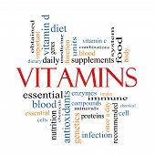 Vitamins Word Cloud Concept