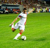 Odessa, Ukraine - August 19, 2012: Dario Srna, Shakhtar Captain Of The Football Team To The Champion