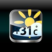 Vector Weather App Icon