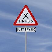 image of just say no  - Road sign indicating Just Say No To Drugs  - JPG