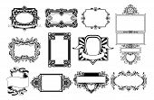 Ornate Frame And Border Design Elements