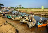 boats resting in the bondo beach,