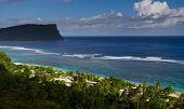 Vista da praia do paraíso
