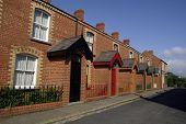 Street Of Brick Terraced Houses