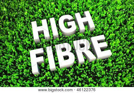 Постер, плакат: Диетические продукты с высоким содержанием клетчатки как концепции на траве, холст на подрамнике