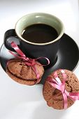Coffee Espresso And Cookies Treat