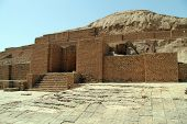 stock photo of ziggurat  - Brick ziggurat Choqa Zanbil near Shush Iran - JPG