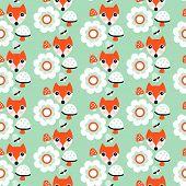 Nahtlose Pastell fox Herbst Wald Abbildung Hintergrundmuster in Vektor