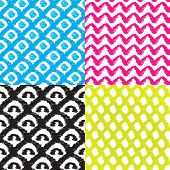 Seamless colorful vibrant ethnic aztec hand drawn decorative background pattern in vector