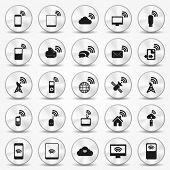 Botões do smartphone Wi-fi Hotspot de ícone