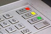 stock photo of automatic teller machine  - ATM keypad - JPG