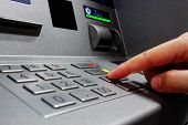 foto of automatic teller machine  - Press ATM EPP keyboard - JPG