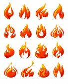 pic of combustion  - Fire flames - JPG