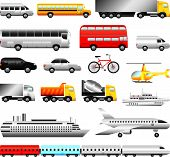 stock photo of motor-bus  - different types of transport big detailed vector set - JPG
