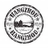 Hangzhou grunge rubber stamp