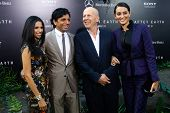 NEW YORK - MAY 29: (L to R): Bhavna Viswani, M. Night Shyamalan, Bruce Willis and Emma Heming attend