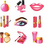 cosmetics and make up icons