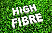 image of high calorie foods  - High Fiber Dietary Foods as a Concept on Grass - JPG
