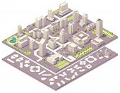 Isometric city map creation kit