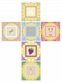 image of eucharist  - a illustration of religion colors cross isolated - JPG