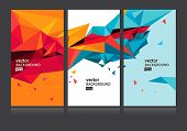 image of letter  - Vector abstract background set EPS 10 - JPG