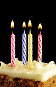 Birthday Candles On Black Background