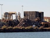 Trash Processing Facility In Shore Of Oakland Harbor