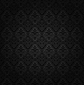 Seamless black damask wallpaper