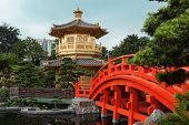 picture of hong kong bridge  - The Pavilion of Absolute Perfection in the Nan Lian Garden - JPG