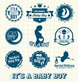 It's A Baby Boy Labels and Icons