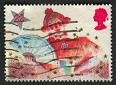 UK - CIRCA 1985: A stamp printed in UK shows image of the Dame, Christmas, Pantomime Characters, circa 1985.