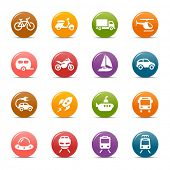 Puntos coloreados - iconos de transporte