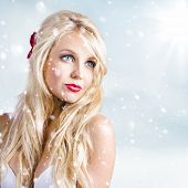 Enchanting Snow Woman. Elegant Winter Style