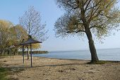 Empty Beaches Of Lake Balaton